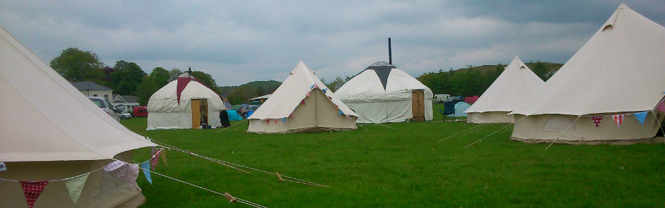 Organising a festival and need more tents? Fredu0027s bell tents can accommodate crew contractors VIPu0027s as well as festival goers & UK Bell tent hire and rental | Luxury glamping event and festival ...