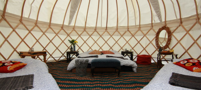 Comfy Yurts And Canvas Tent Accommodation Ready And