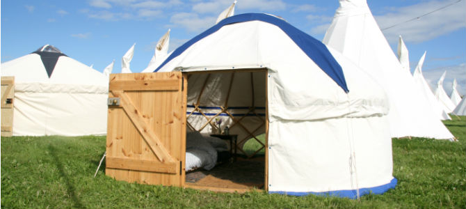 Luxury Tented Accommodation At The Hay Festival 2017